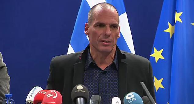 Yanis Varoufakis à Bruxelles, lundi.