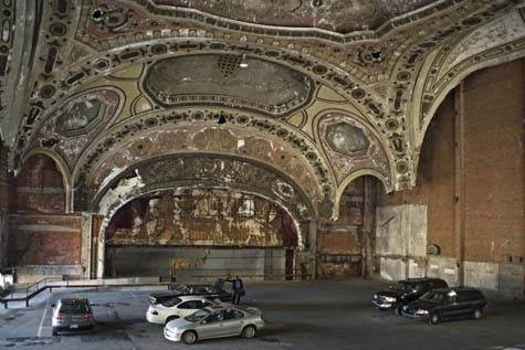 The Michigan Theatre was once a thriving place. Ironically it became a parking garage and a symbol for the decline of Detroit.
