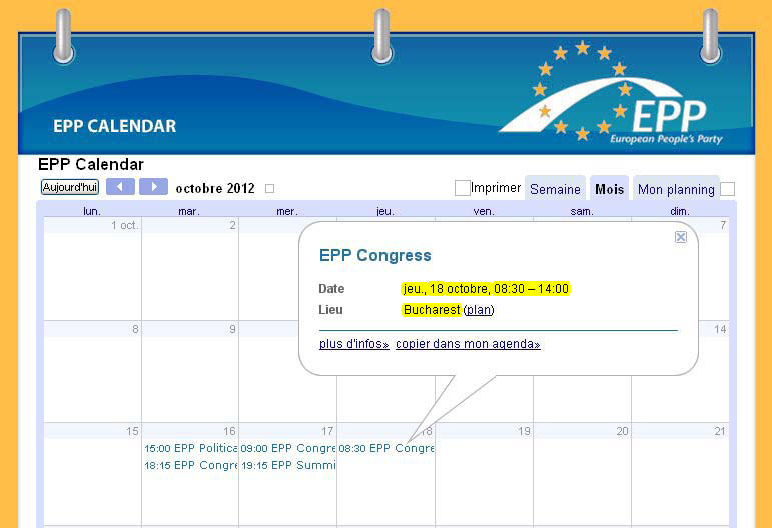 PPE Congress Bucharest 2012