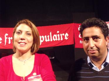 Sonia Hassine et Lofti Hammami du Front Populaire (Tunisie)