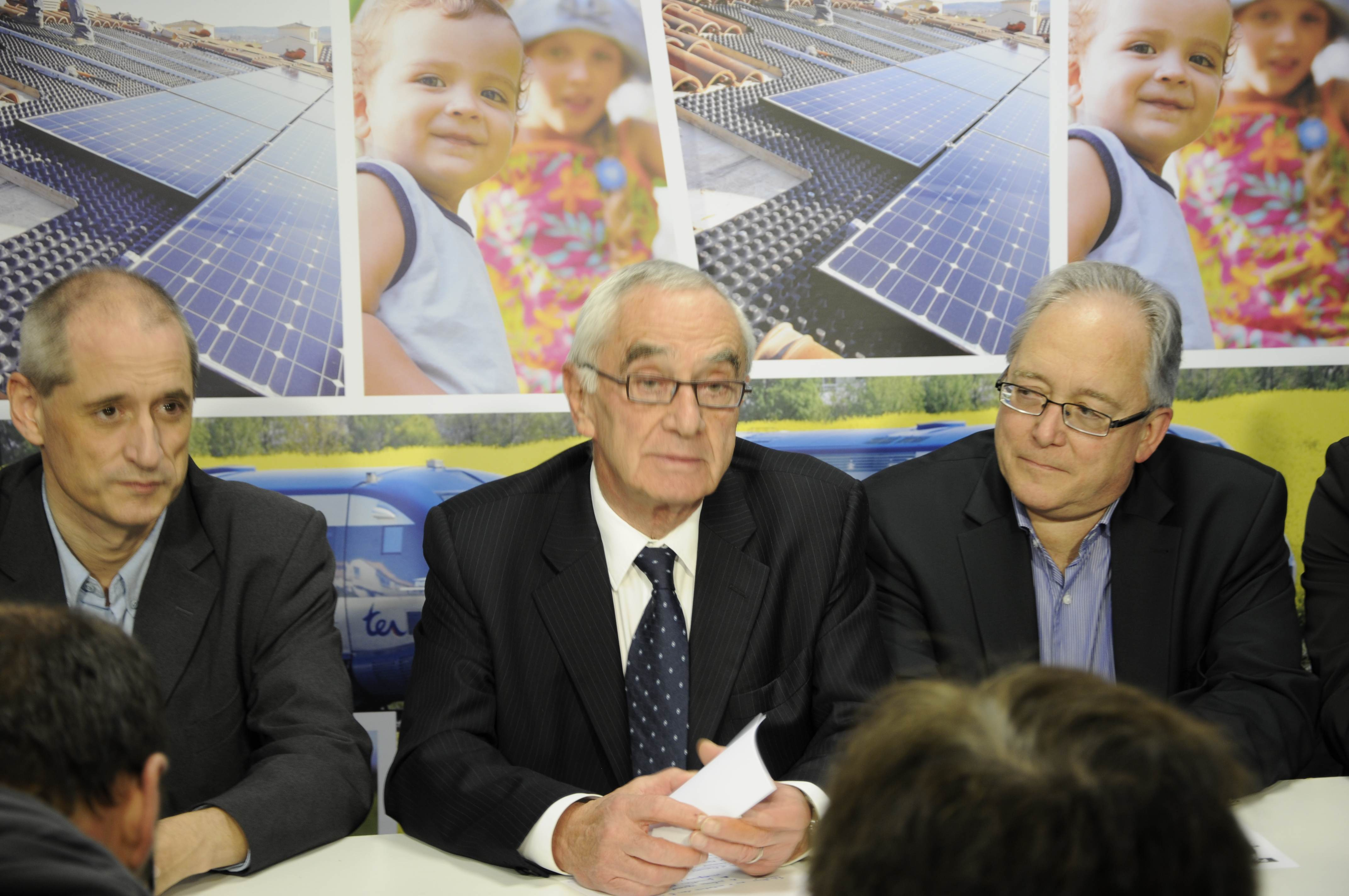 Gérard Onesta, Martin Malvy et Christian Picquet annoncent leur alliance pour le second tour des élections régionales 2010. Photo Marc Pédeau