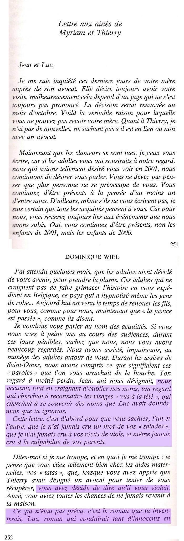 """La lettre tirée du livre """"Que Dieu aie pitié de nous"""""""