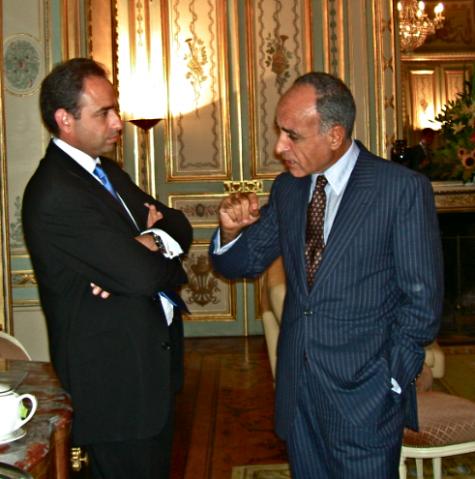 Jean-François Copé et Ziad Takieddine au ministère de l'intérieur