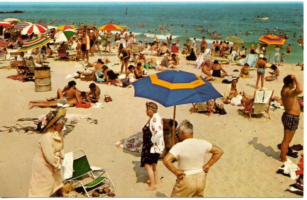 scène de plage 1950