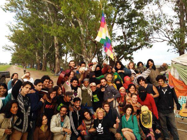 Manu Chao au campement de Malvinas, 29/11/2013