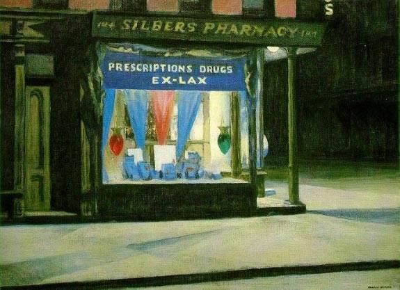 Drugstore (1927) Edward Hopper
