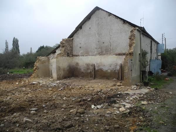 La moitié de la Sécherie et son jardin détruits