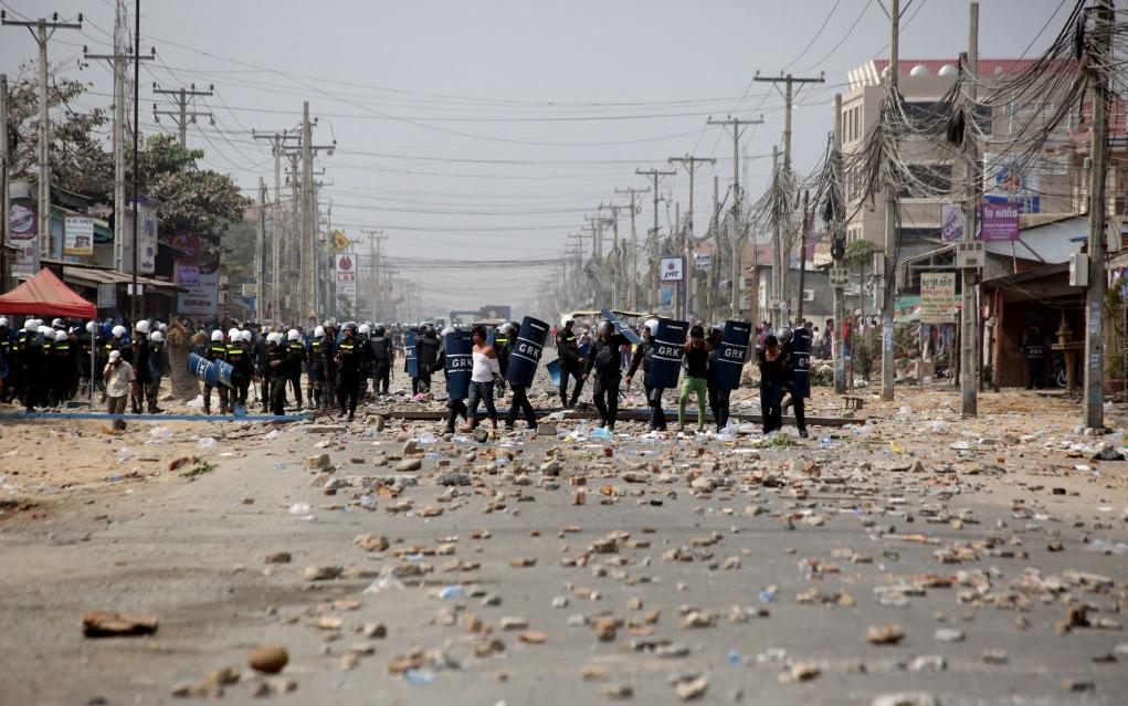 Affrontements à Phnom Penh, capitale du Cambodge