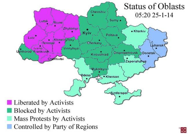 La carte des mobilisations le 25 janvier, selon l'opposition.