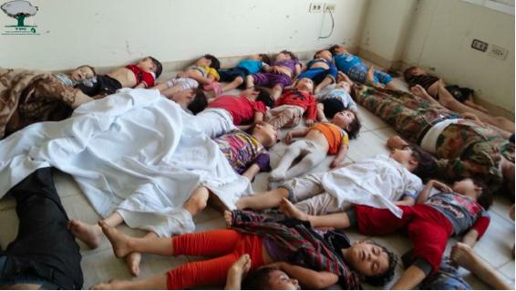 Victimes à l'hôpital de Kafr Batna.