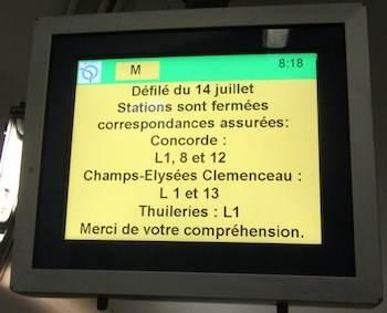 Annonce RATP