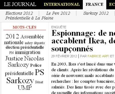 1er mars - rubrique France 8h30
