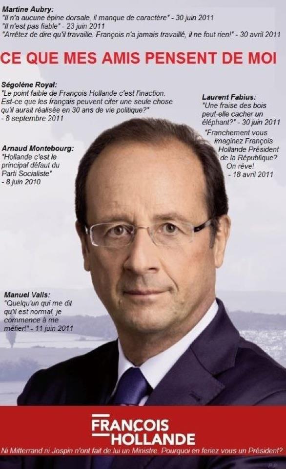 """François Hollande cité par ses """"amis"""" du PS"""