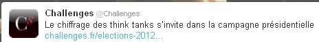 Tweet de Challenges 23 février 2012