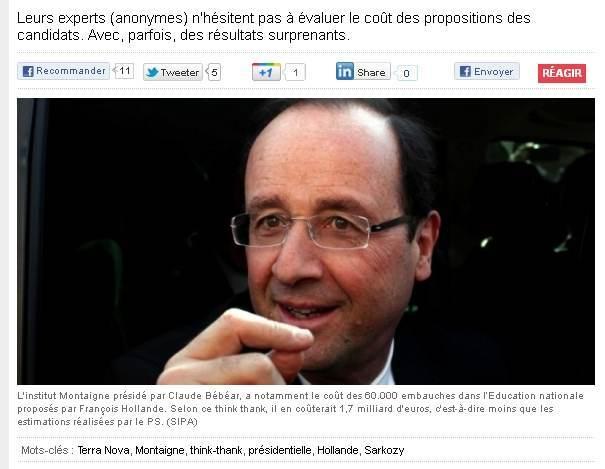 """""""Think Thanks"""" et programmes économiques jugés par """"experts anonymes"""""""