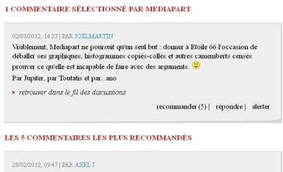 Commentaire sélectionné par mediapart