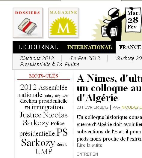 FRANCE - Mots-clés 28 février 2012