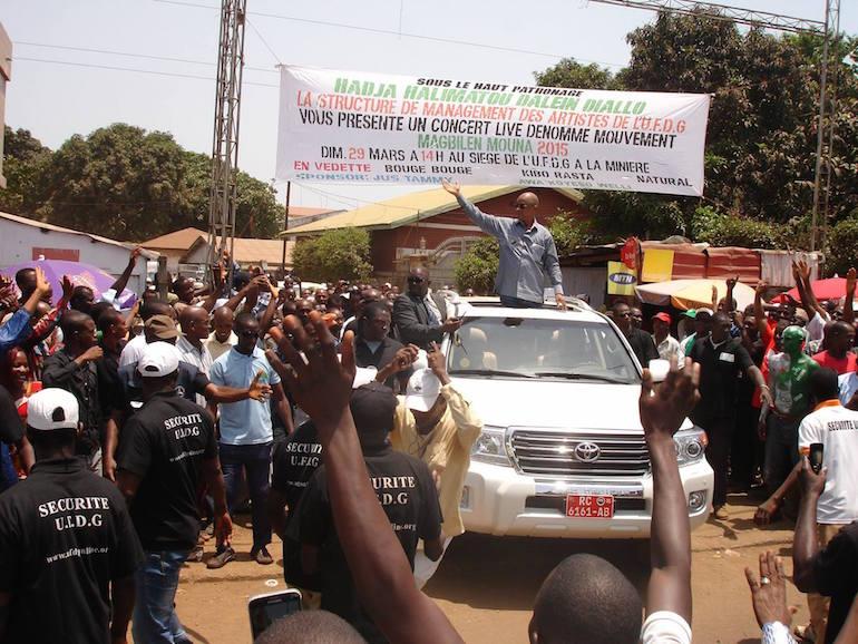 L'opposant Cellou Diallo en campagne.