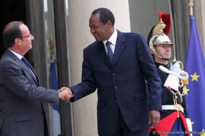 Blaise Compaoré reçu par François Hollande en septembre 2012