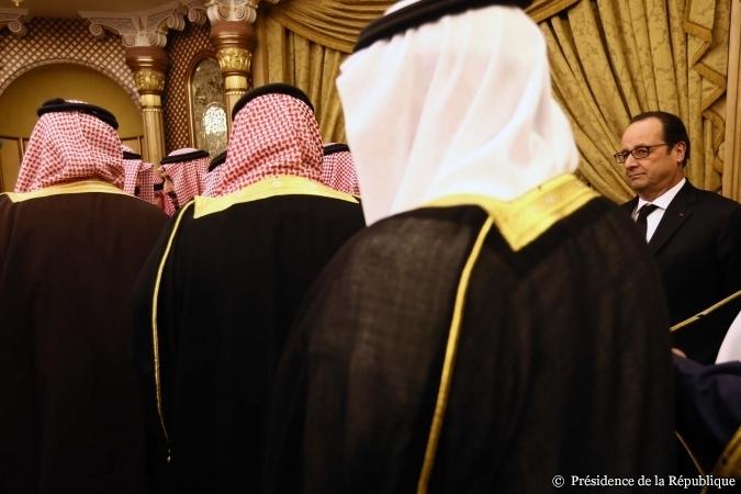 François Hollande à Riyad lors de ses condoléances pour la mort du roi Abdallah