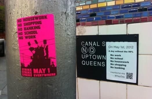 Appels à la grève à New York