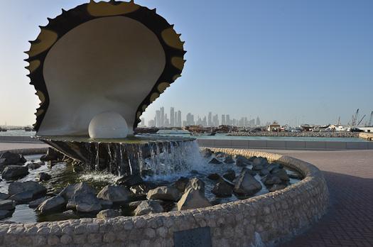 À Doha, un monument à ce qui faisait la richesse du Qatar il y a un siècle : les perles.