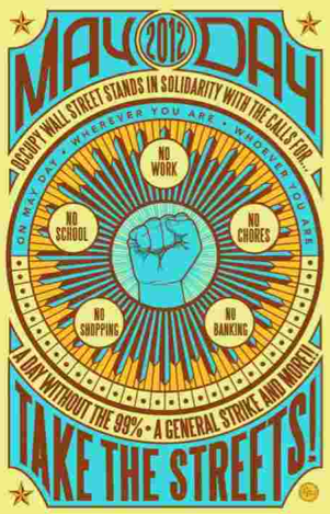 Affiche d'Occupy Wall Street pour le 1er mai 2012 (DR)