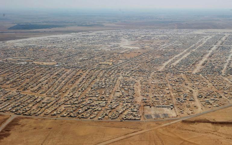 Le camp de réfugiés de Zaatari en Jordanie, le 18 juillet 2013