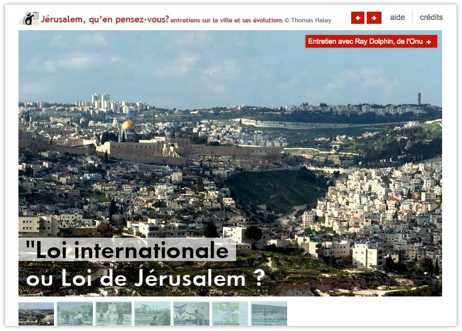 Webdoc : Sept entretiens sur le statut de Jérusalem