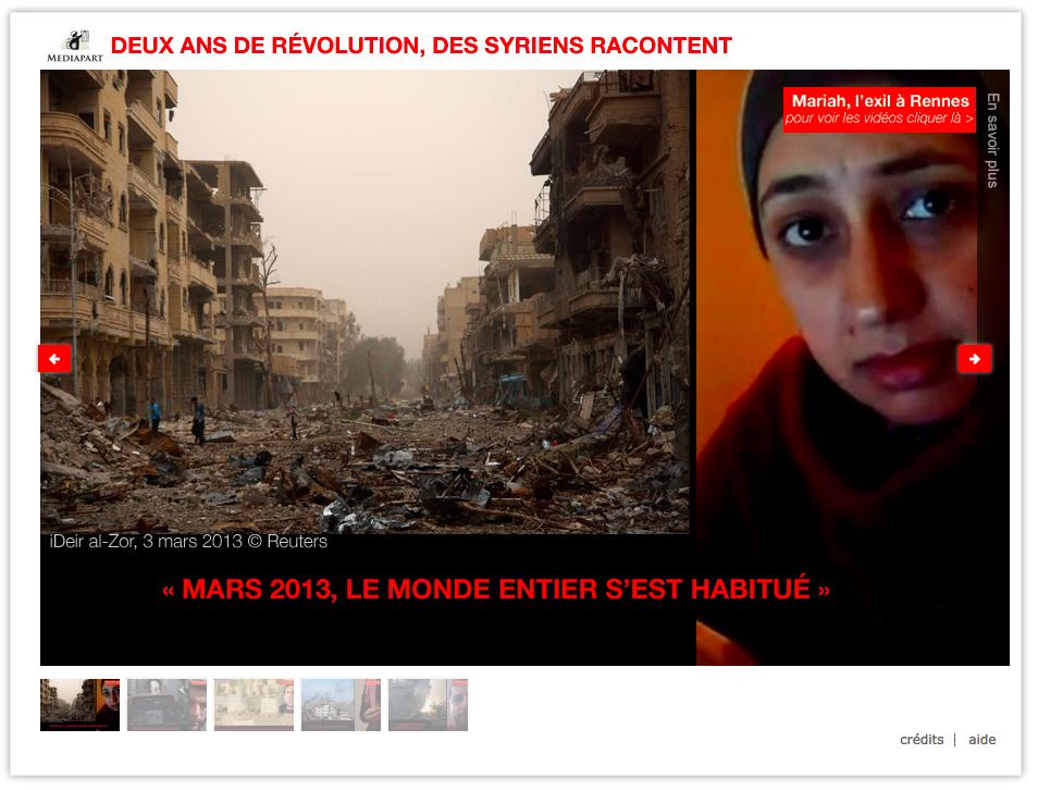 Webdoc : Syrie: le récit de la révolution