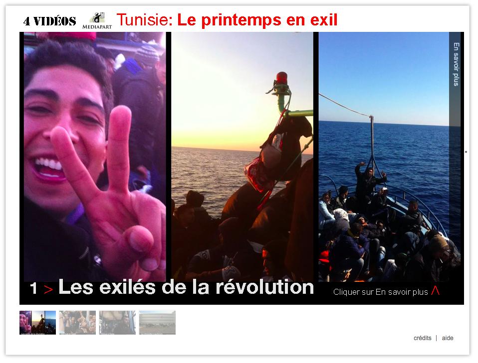 Webdoc : Tunisie, la révolution et l'exil