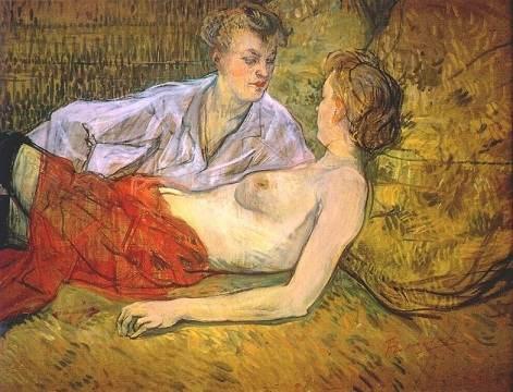 Les deux Amantes, Toulouse-Lautrec, 1894
