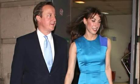 David et Samantha Cameron au Old Billinsgate Market en février 2013.