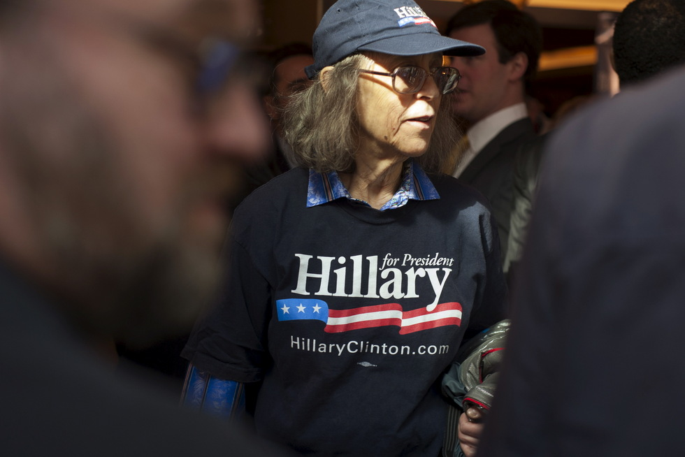 Lors d'un rassemblement de soutien, samedi 11 avril 2015 à Manhattan.