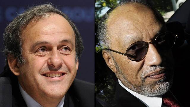 Michel Platini et Mohamed Bin Hammam.