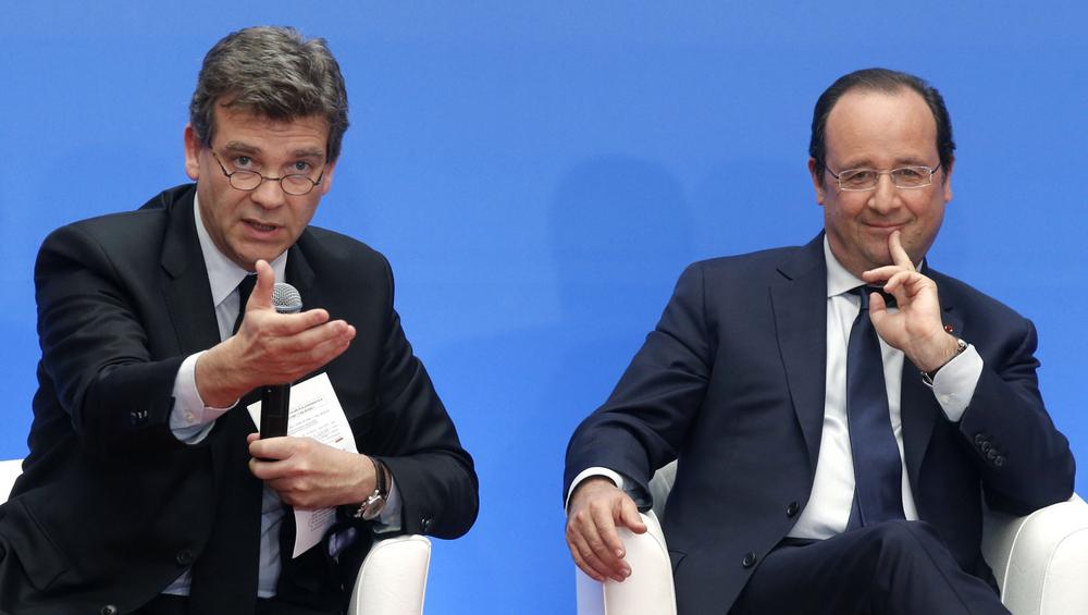 Arnaud Montebourg et François Hollande, en mai 2014.