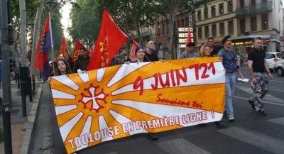Manif en mémoire du 9 juin 721 qui avait vu la victoire du Duché d'Aquitaine sur le Califat omeyyade