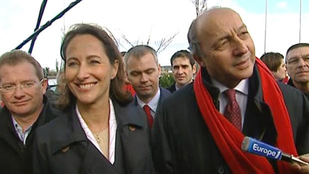 Ségolène Royal et Laurent Fabius en 2007