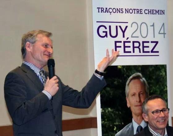 Guy Ferez, maire sortant, en campagne avec Philippe Aussavy. DR.