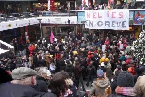 Rassemblement de soutien aux travailleurs du Méliès en grève, le 19 février 2013 (DR)