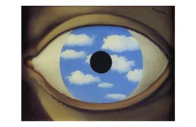 «Le faux miroir», René Magritte.