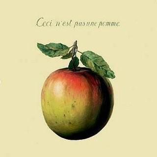 «Ceci n'est pas une pomme», René Magritte.