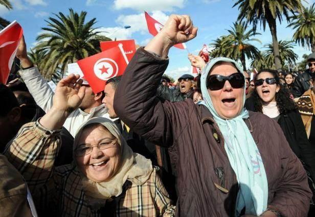 Manifestation à Tunis, en mars, pour la défense des libertés (Fethi Belaïd/AFP).