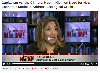 Naomi Klein, DemocracyNow!, sept 2014
