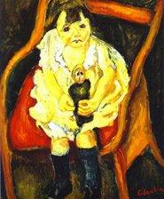 ChaÏm Soutine - La petite fille à la poupée - c. 1919