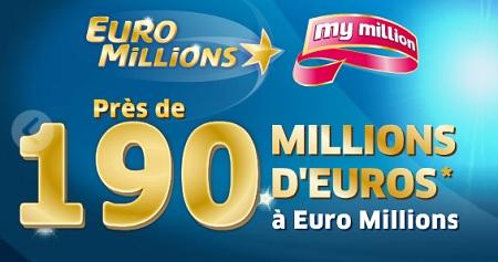 tirage euromillions de 190 millions d'euros