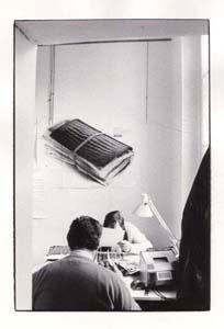 Picture-editor dans une agence de photographie dans les années 80 - Collection Compagnie des Reporters