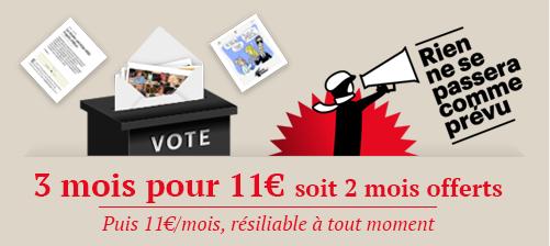3 mois pour 11€ puis 11€/mois sans engagement