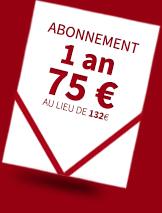 Abonnement 1 an 75€ au lieu de 132€ + 1 film UniversCiné